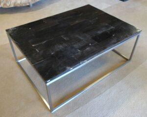 Table basse bois pétrifié 0928