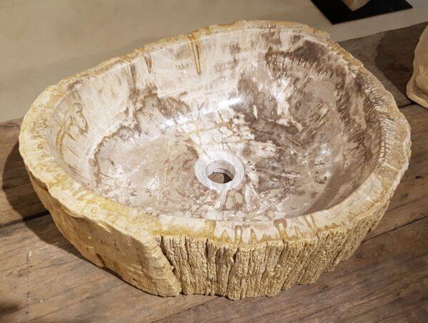 Lavabo bois pétrifié 31223