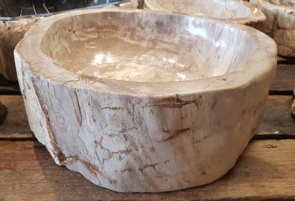 Lavabo madera petrificada 26407