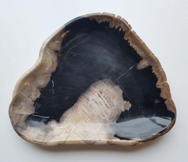 Plato madera petrificada 28156