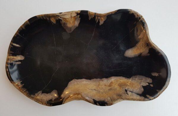 Plato madera petrificada 29505