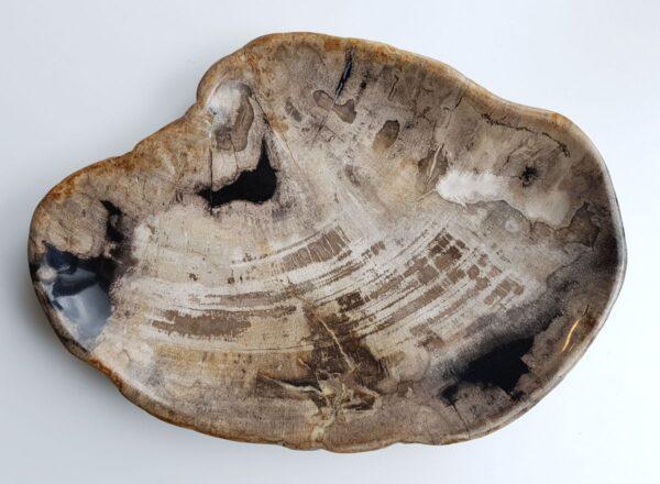 Plato madera petrificada 29516