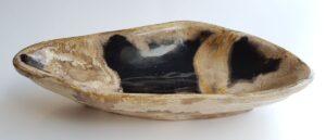 Bowl petrified wood 30042