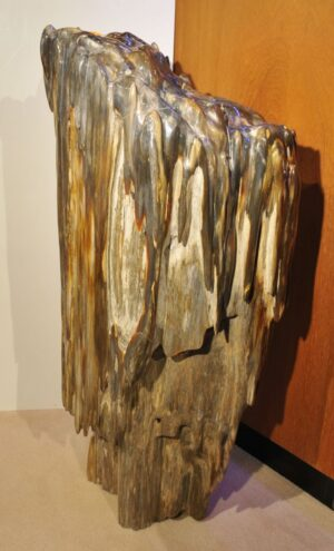 Sculpture petrified wood 19148
