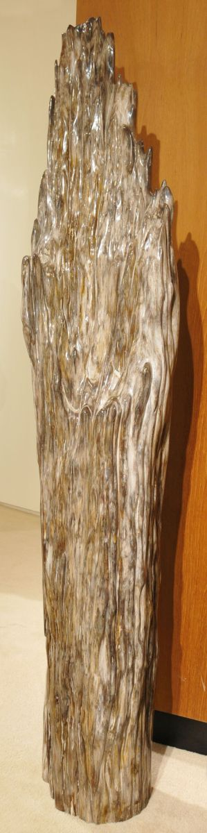 Sculpture petrified wood 21246