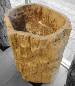 Wash hand basin petrified wood 18366