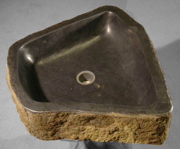 Wash hand basin petrified wood 1974