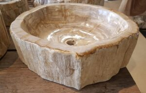 Wash hand basin petrified wood 26391