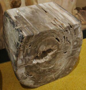Bijzettafel versteend hout 14208
