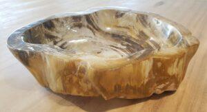 Schale versteinertes Holz 28048