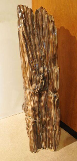 Skulptur versteinertes Holz 21245