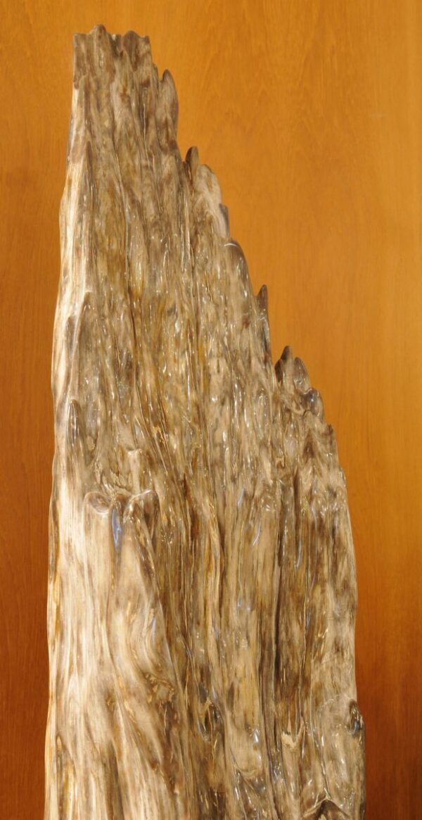 Skulptur versteinertes Holz 21246