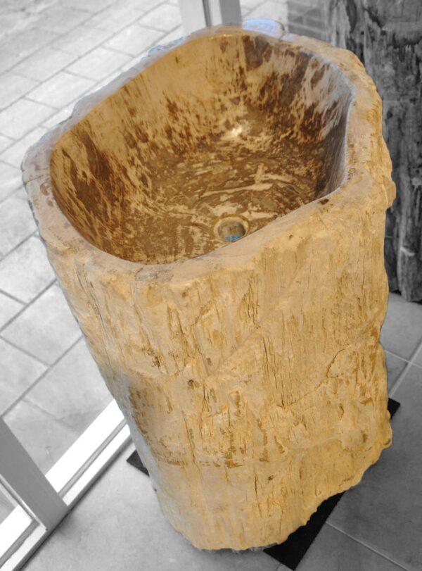 Waschbecke versteinertes Holz 18366