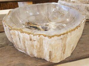 Waschbecke versteinertes Holz 27755