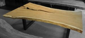 Tree slab table suar 16509