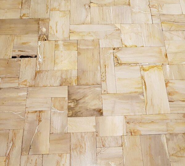Couchtisch versteinertes Holz 26329