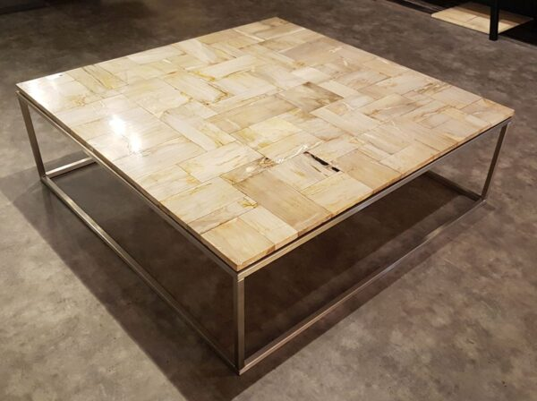 Mesa de centro madera petrificada 26329