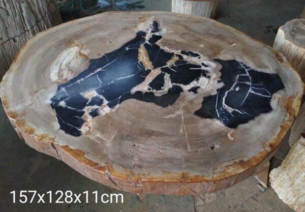 Mesa de centro madera petrificada 32176