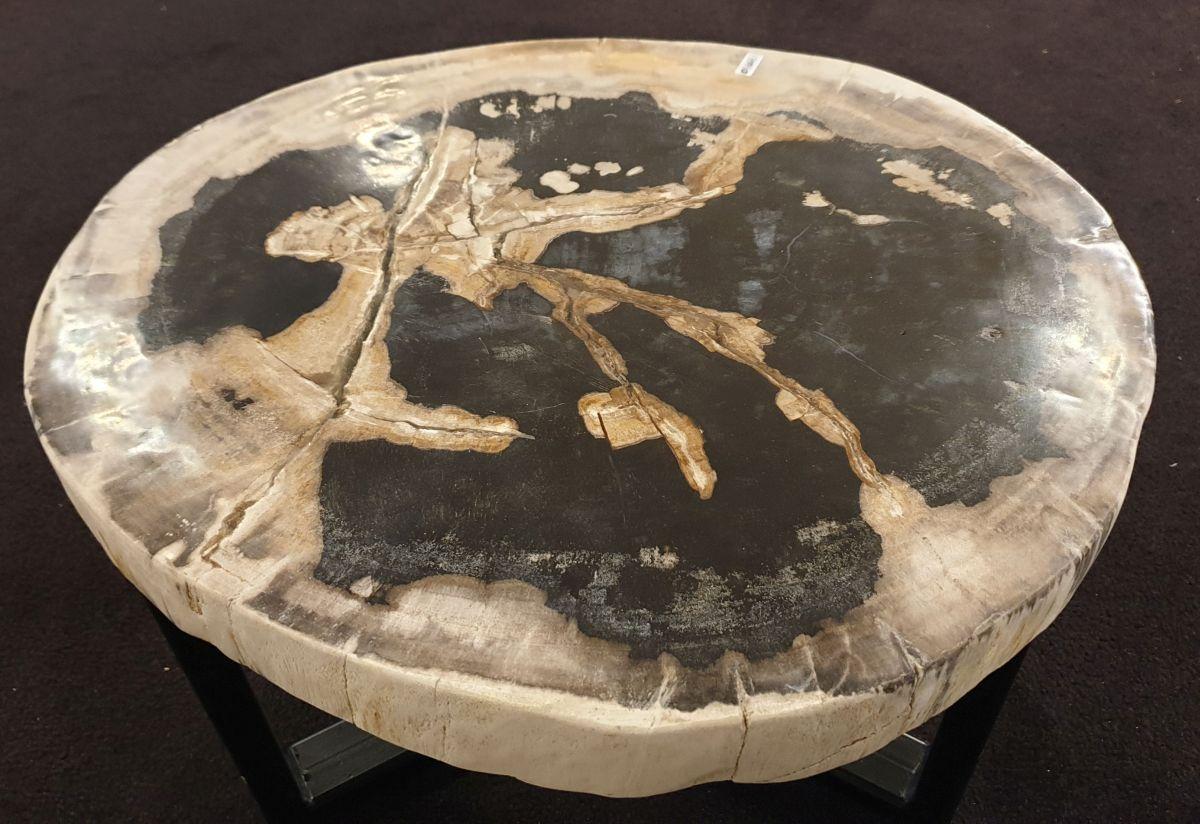 Mesa de centro madera petrificada 32428