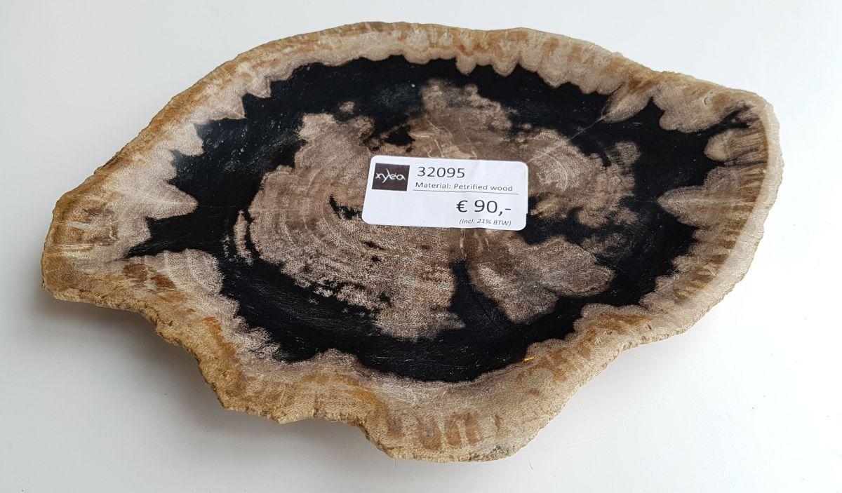 Assiette bois pétrifié 32095