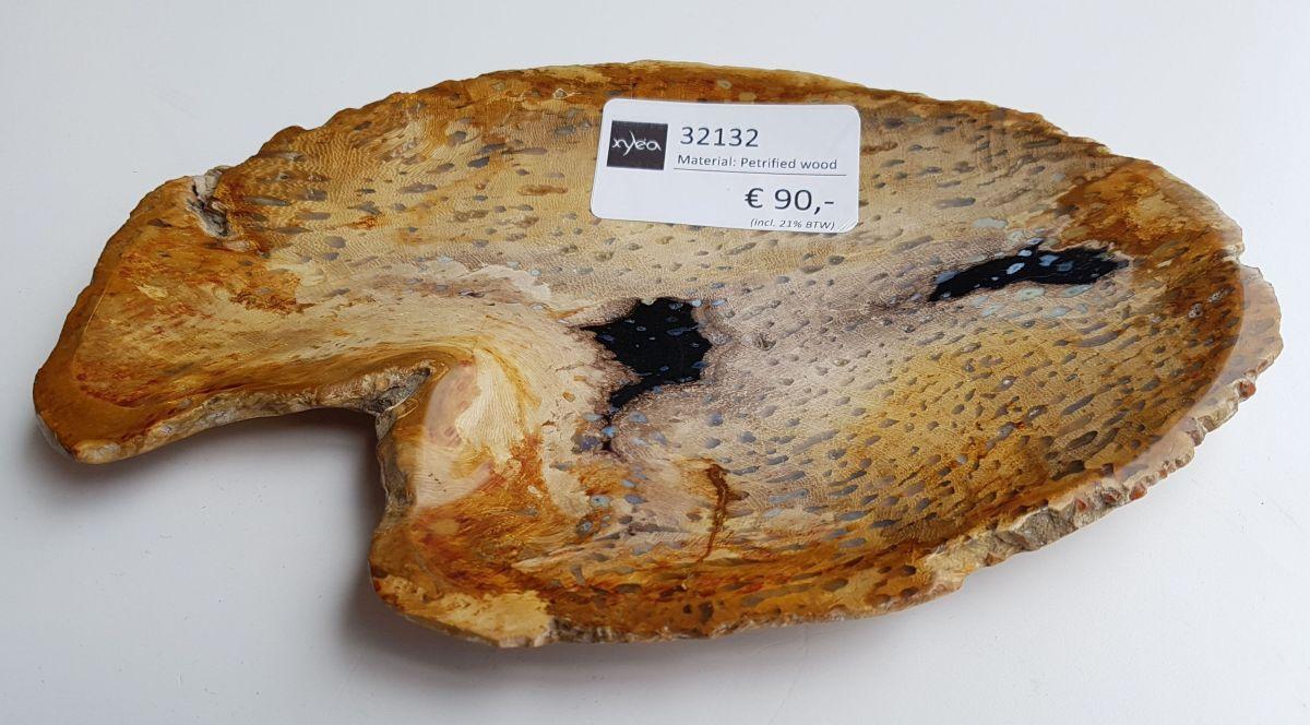 Assiette bois pétrifié 32132