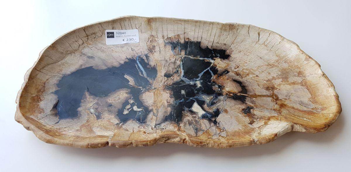 Plato madera petrificada 32040
