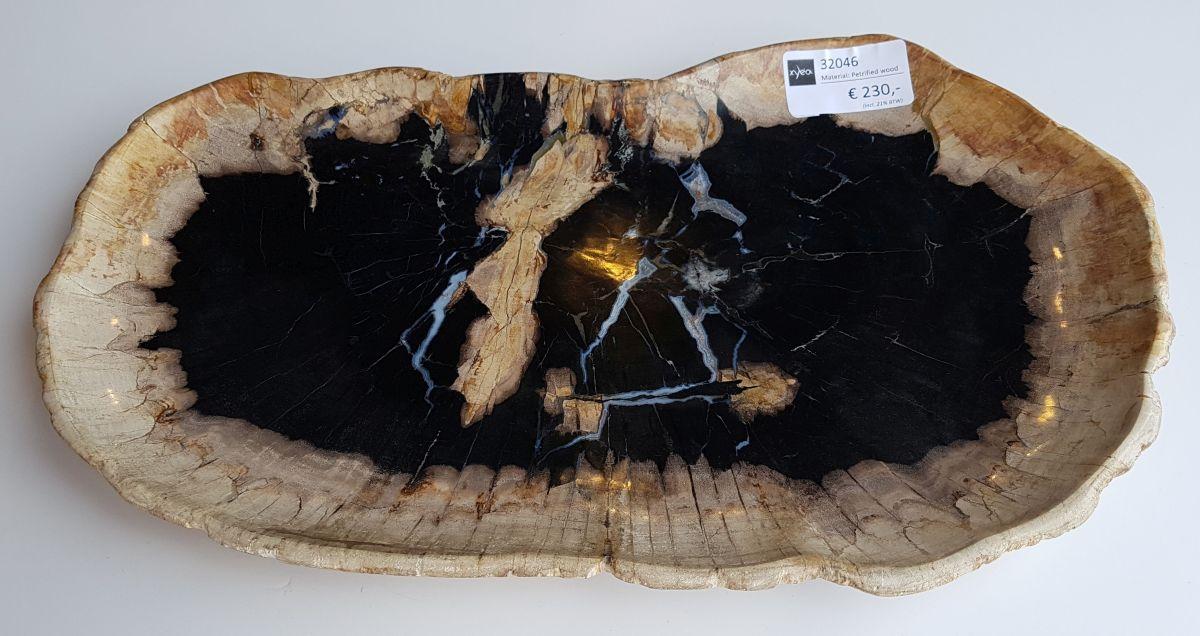 Plato madera petrificada 32046