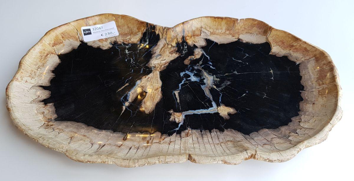 Plato madera petrificada 32047