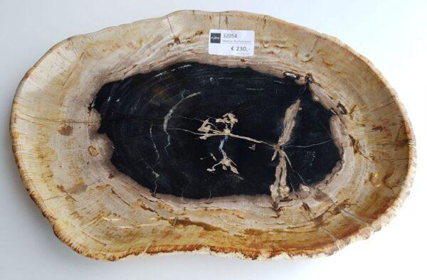 Plato madera petrificada 32054