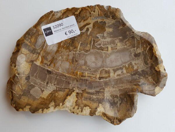Plato madera petrificada 32090