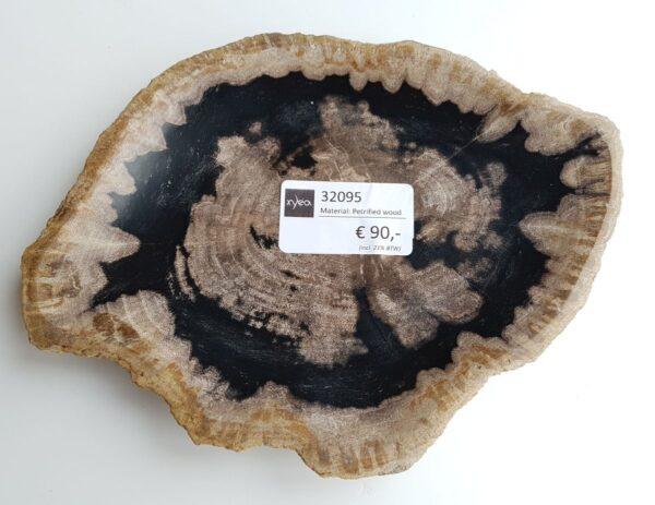 Plato madera petrificada 32095
