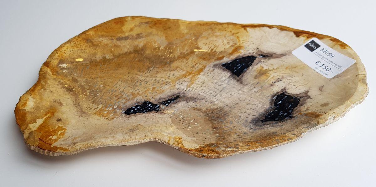 Plato madera petrificada 32099
