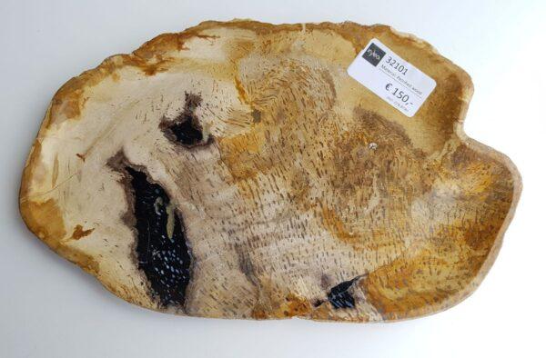 Plato madera petrificada 32101