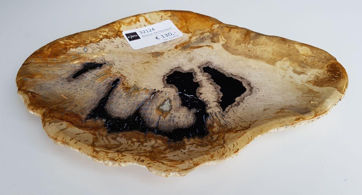 Plato madera petrificada 32124