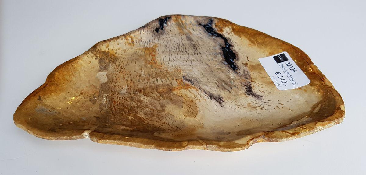 Plato madera petrificada 32126