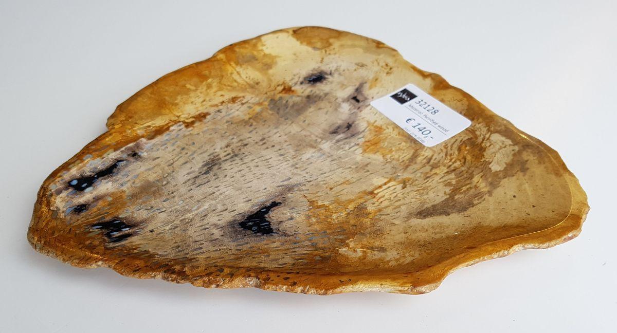Plato madera petrificada 32128