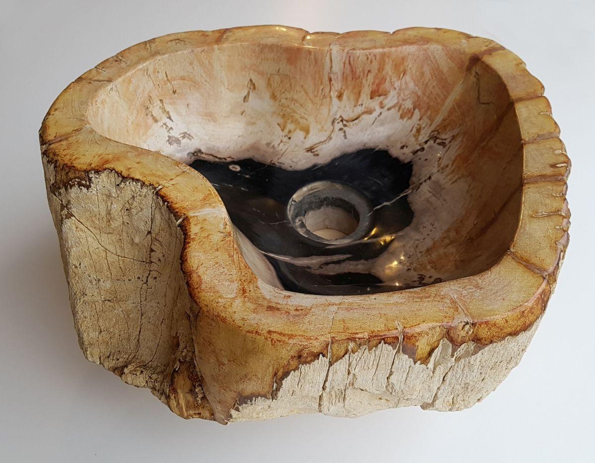 Wash hand basin petrified wood 32576