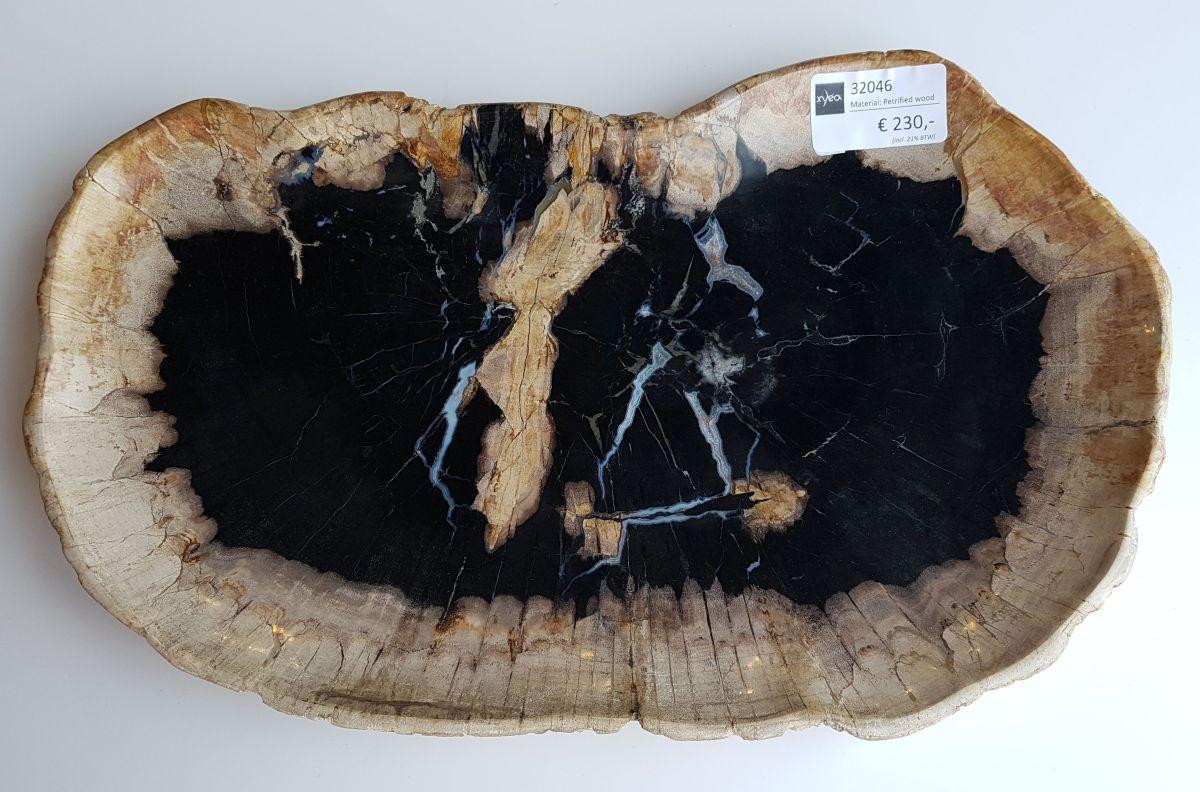 Teller versteinertes Holz 32046