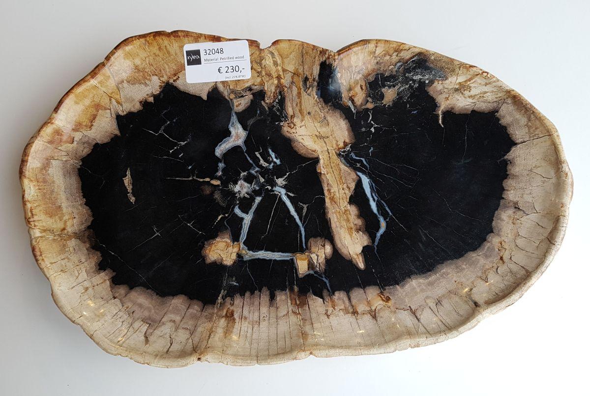 Teller versteinertes Holz 32048