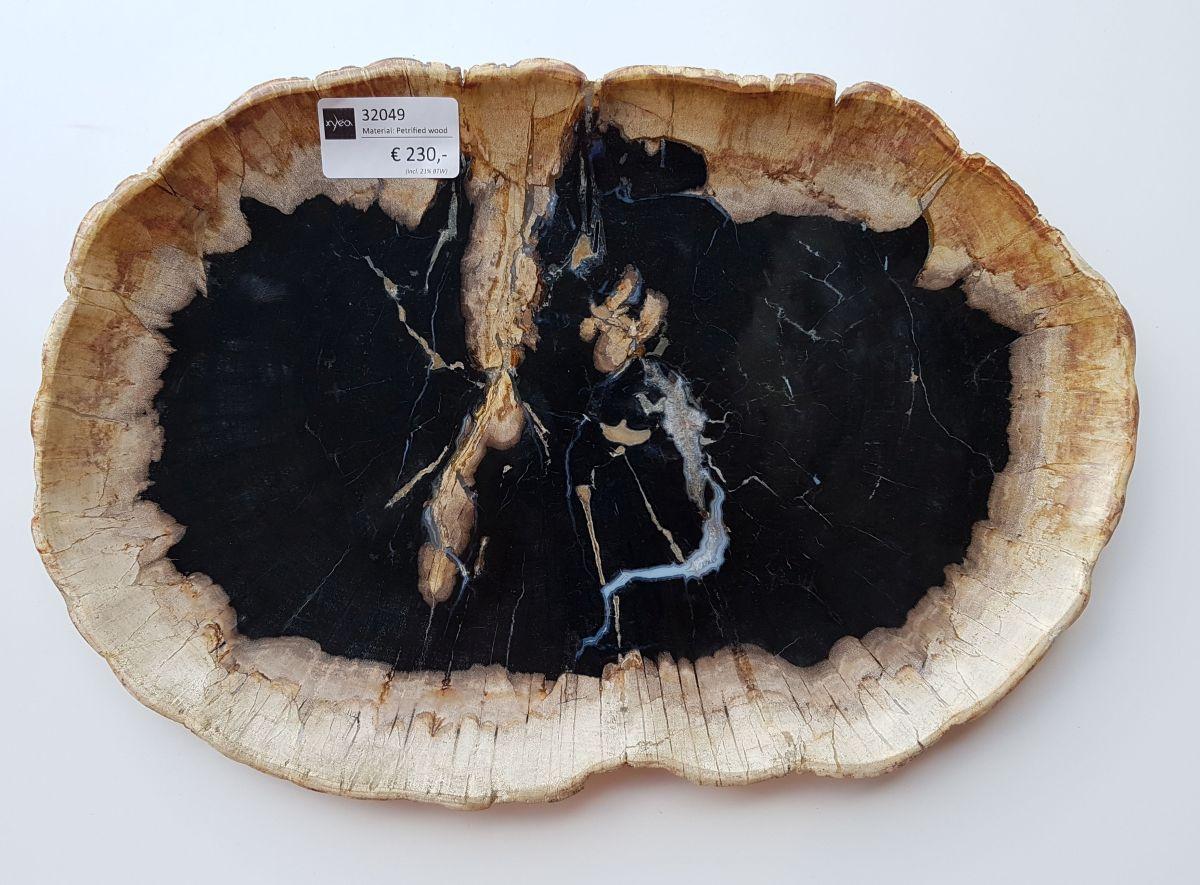 Teller versteinertes Holz 32049
