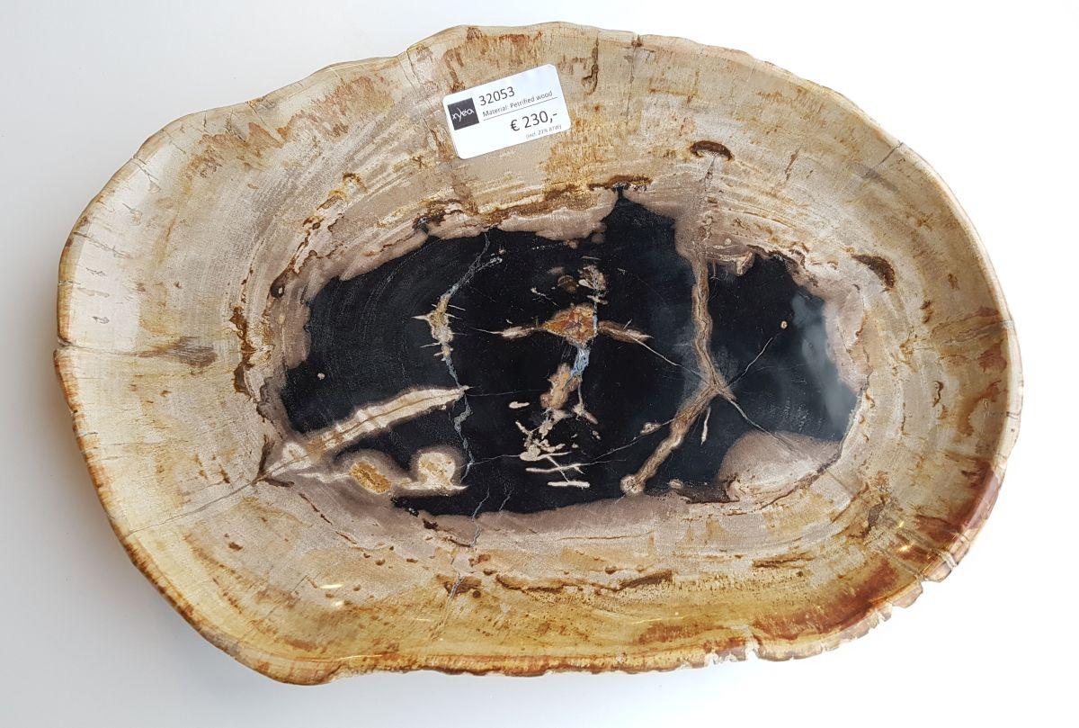 Teller versteinertes Holz 32053