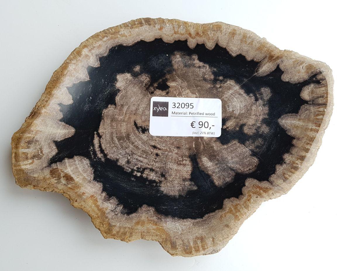 Teller versteinertes Holz 32095