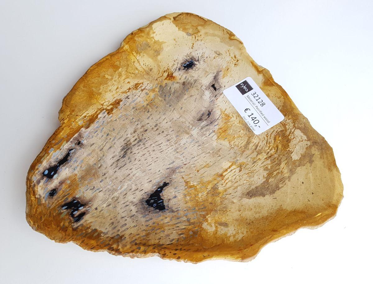 Teller versteinertes Holz 32128