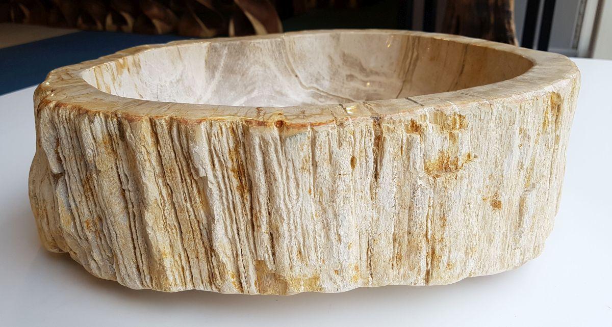 Waschbecke versteinertes Holz 32569