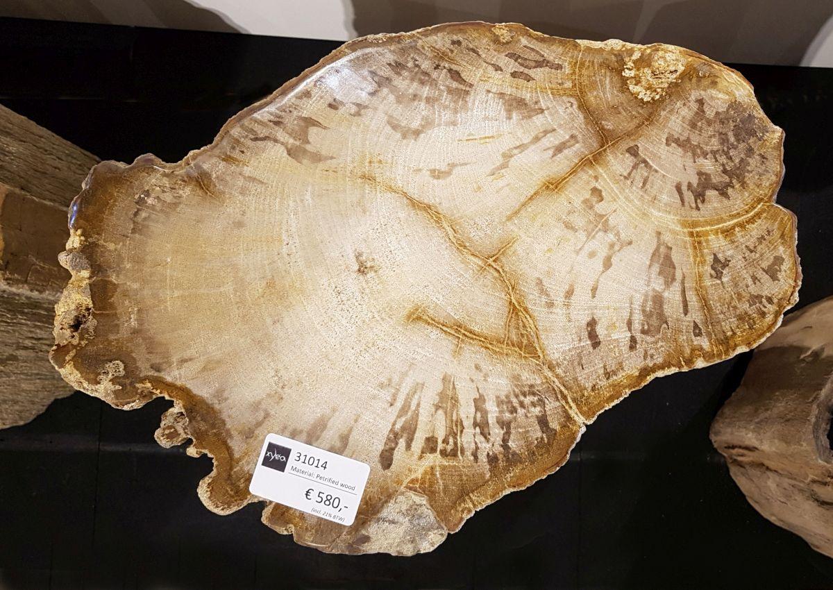 Table d'appoint bois pétrifié 31014