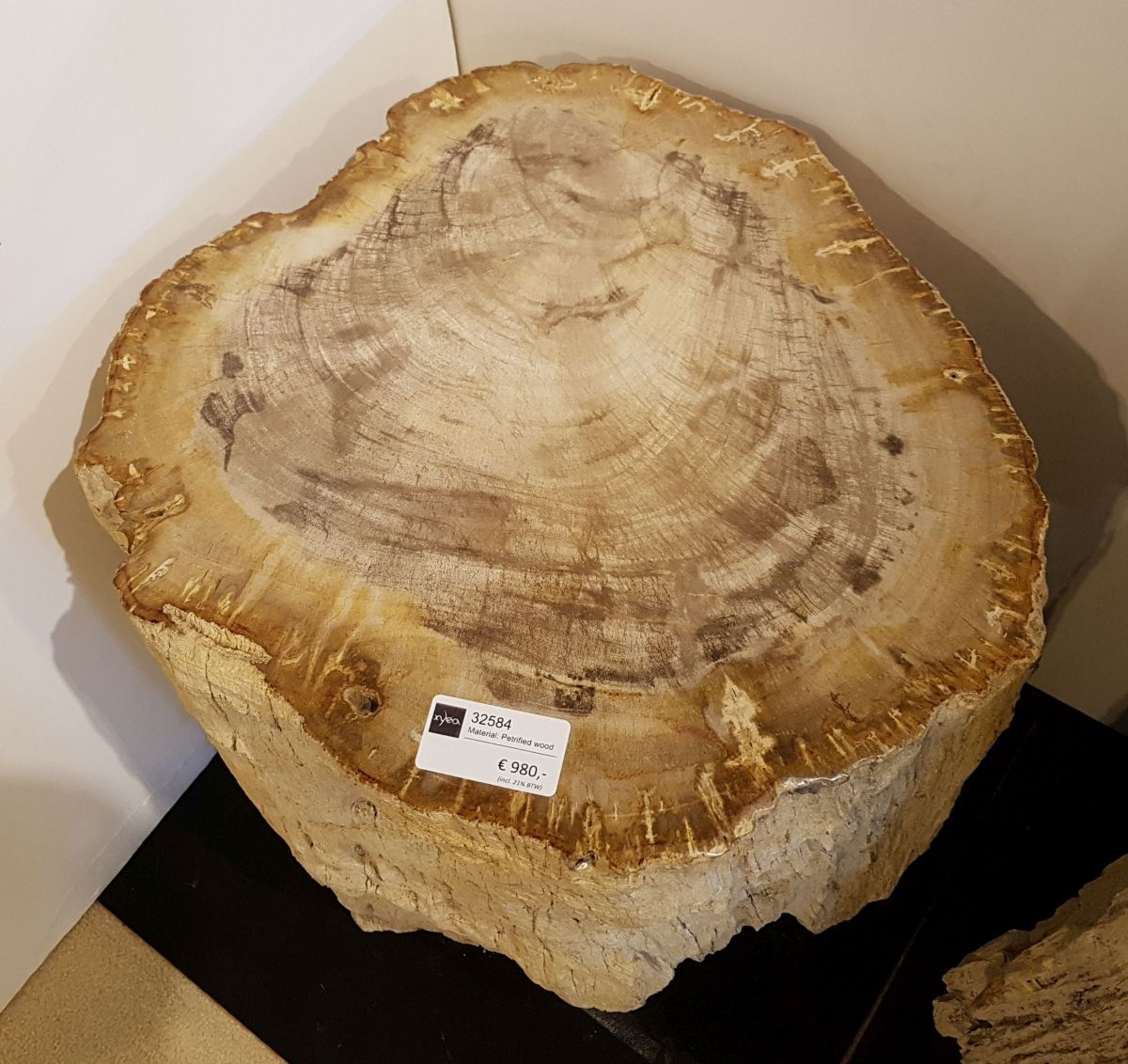 Table d'appoint bois pétrifié 32584