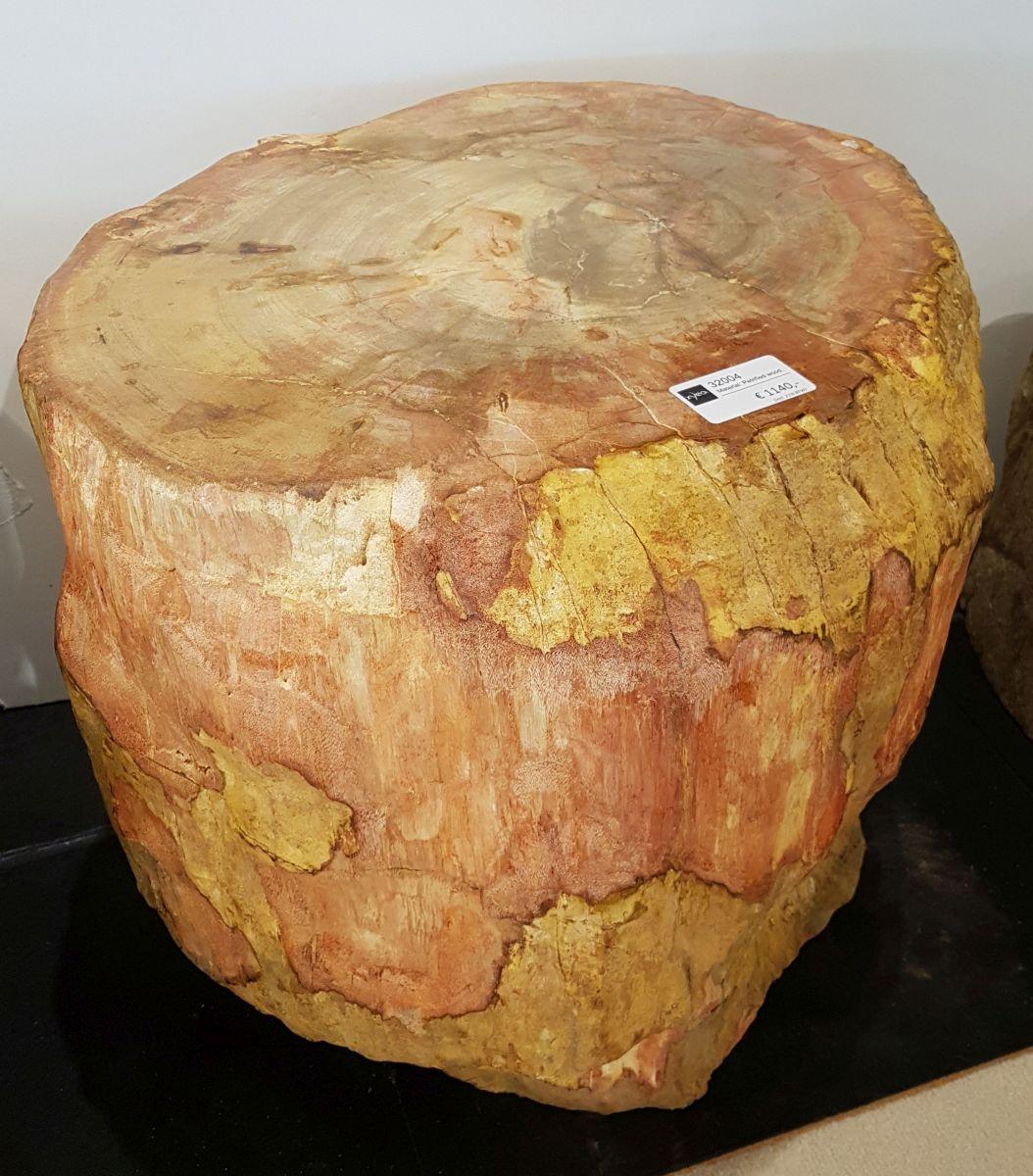 Bijzettafel versteend hout 32004