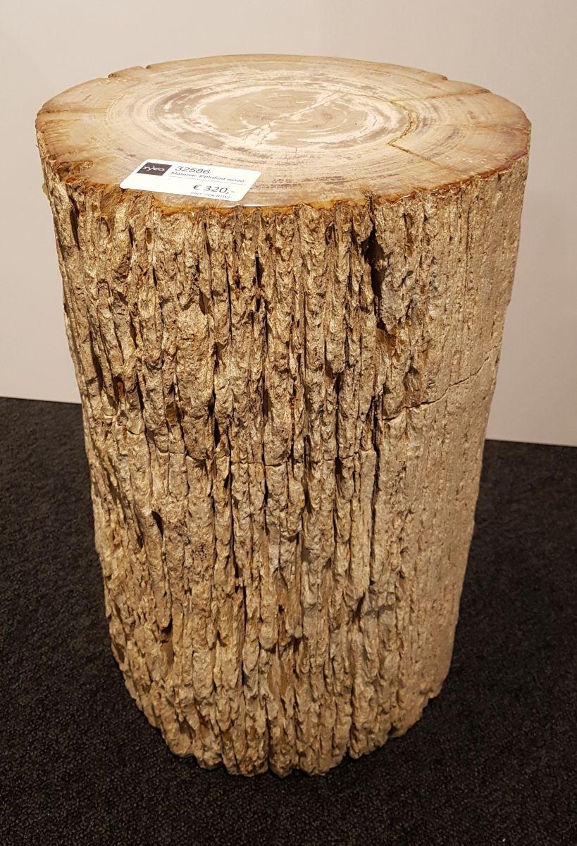 Bijzettafel versteend hout 32586