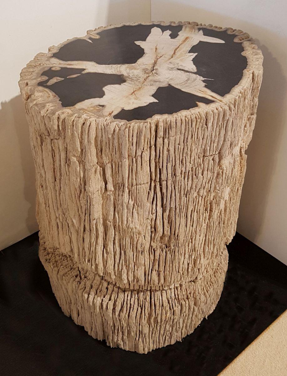 Bijzettafel versteend hout 32590