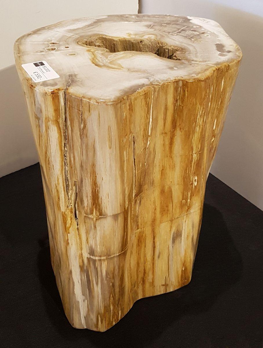 Bijzettafel versteend hout 81202